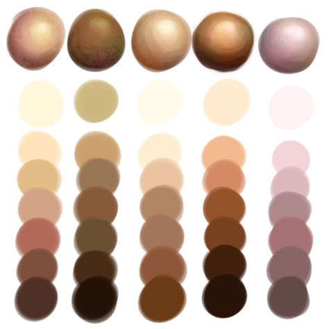 skin color palette skin color palette search tutorial