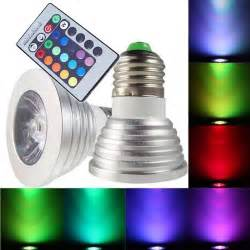 Led Light Bulbs That Change Color 16 Color Remote Rgb Led Light Bulb With 24 Wireless Remote Color Changing Free