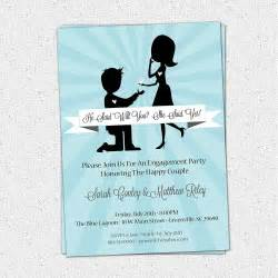 themed engagement invitations engagement invitation wording invite card
