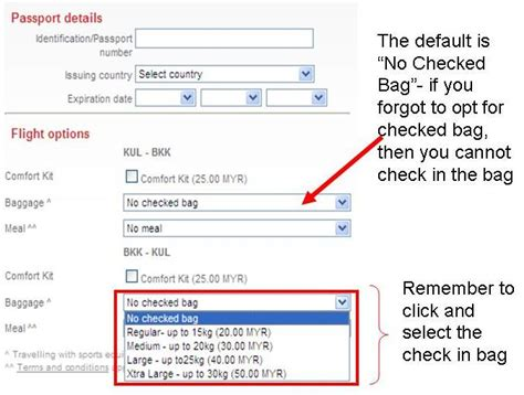 airasia with baggage air asia booking extra charge if you want to check in