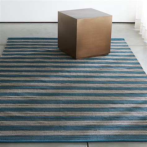 striped outdoor rug sachi teal stripe indoor outdoor rug crate and barrel