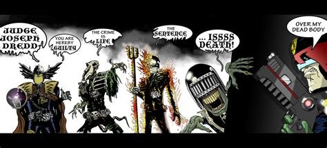 dark judges wallpaper dredd and the dark judges by meaninglessguy on deviantart