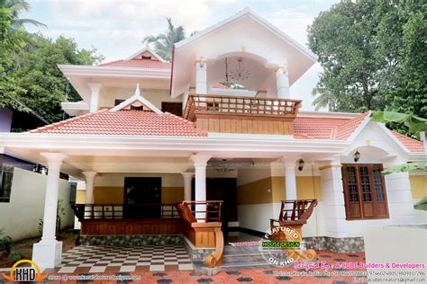 beautiful work finished house in kerala kerala home