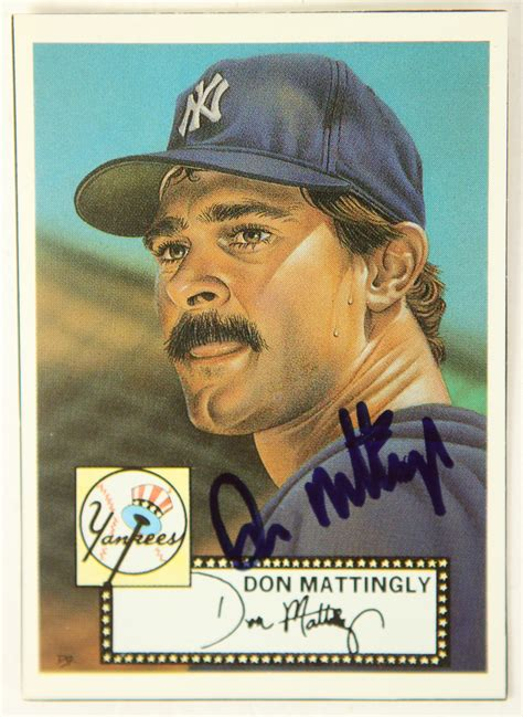 Don Mattingly Cards by Lot Detail 1991 Don Mattingly New York Yankees Signed