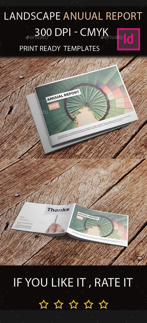 Landscape Annual Report 2015 I Indesign Template By Arnabkumar Graphicriver Indesign Landscape Template