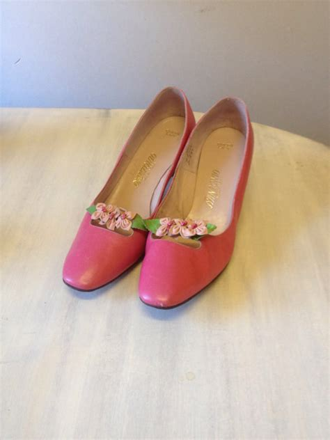 flower pink shoes pink mod flower shoes pink wedding shoes s