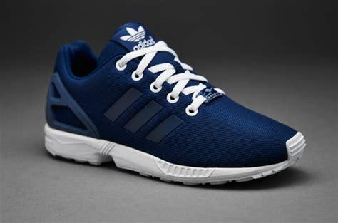 adidas originals kids zx flux boys shoes oxford blue fade ink white
