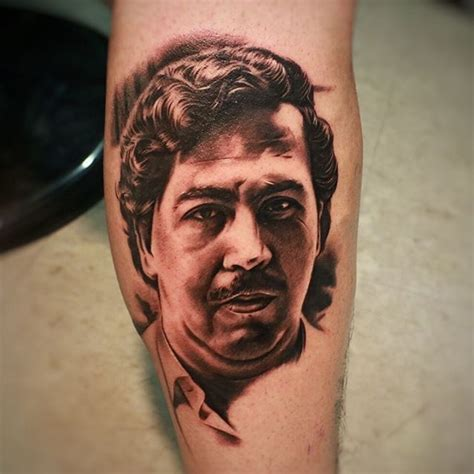 pablo escobar tattoo city tattoos pablo escobar portrait done today