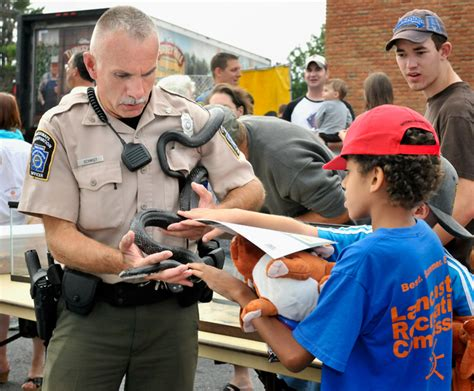 pa fish and boat commission jobs police greet public at 29th national night out news