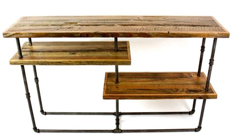 Galvanized Pipe Furniture by Reclaimed Barn Wood And Galvanized Pipes Become Industrial Style Furniture The Alternative
