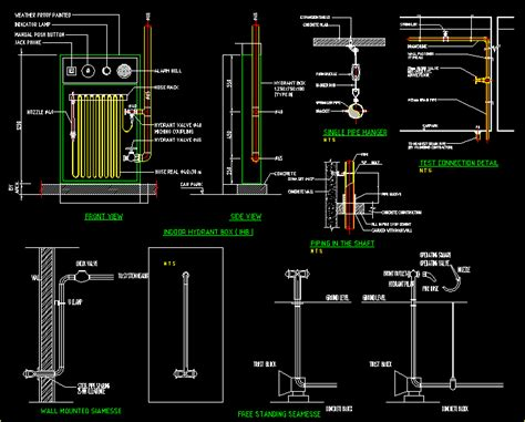 fire hydrant detail dwg detail  autocad designs cad