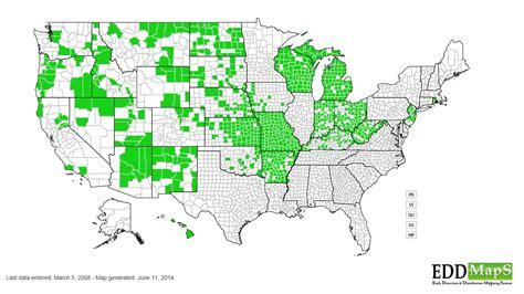 ragweed map usa annual ragweed ambrosia artemisiifolia var elatior