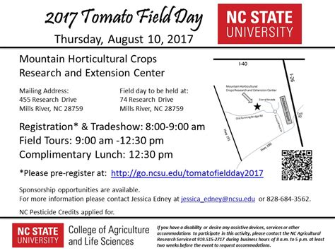 Can I See If Nc State Mba Classes Are by 2017 Tomato Field Day August 10 Nc State Extension