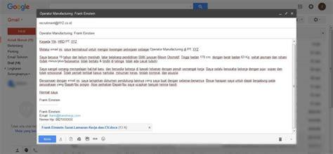 contoh kirim lamaran via email dalam bahasa inggris contoh 193