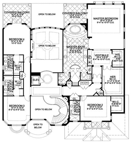 luxury master bedroom floor plans luxurious master suite 32062aa 2nd floor master suite