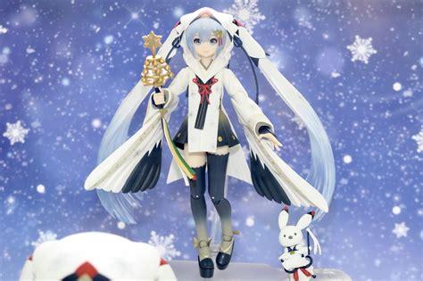 T Shirt Kaos Snow Miku Anime Vocaloid vocaloid hatsune miku snow 2018 crane priestess ver max factory actionfiguren