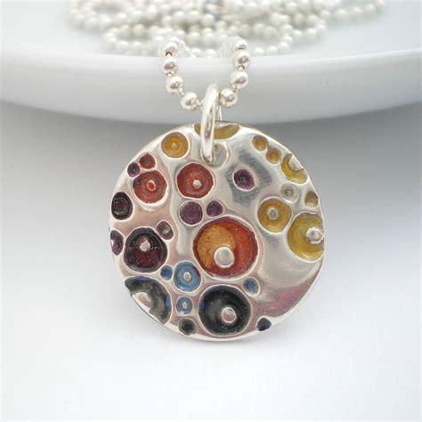 silver coral texture enamel pendant by ali bali jewellery