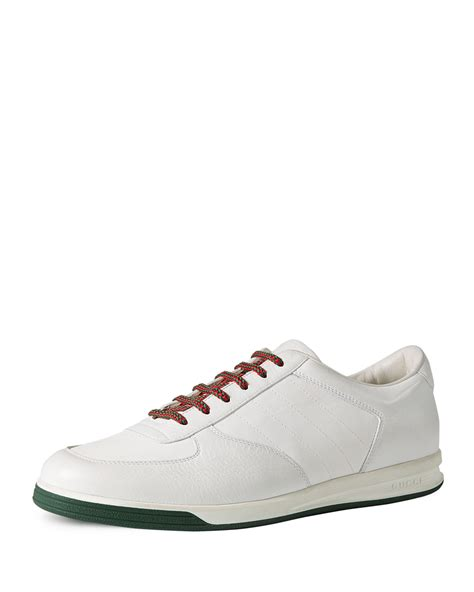 gucci white sneakers gucci 1984 leather low top sneaker in white lyst