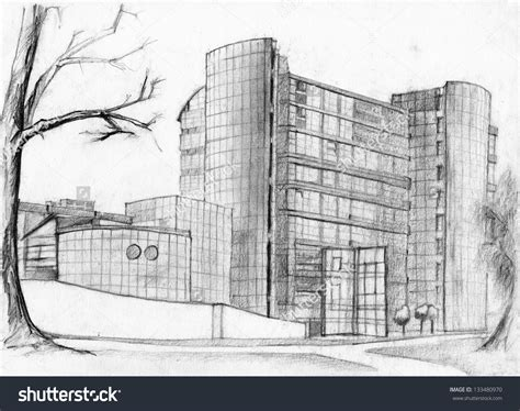 pencil drawings buildings building sketch stock photos building simple pencil drawings drawing of sketch