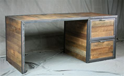 Reclaimed Wood Office Desk Combine 9 Industrial Furniture Conference Tables