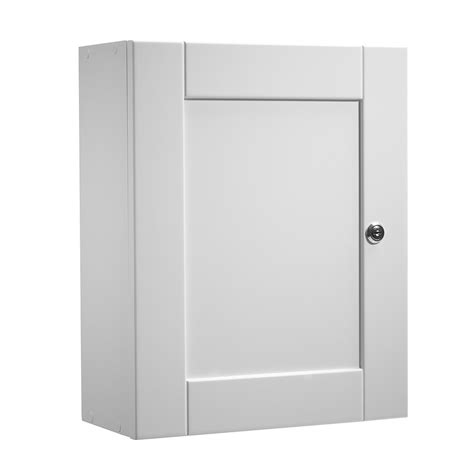 Single White Cupboard Roper Medicab Lockable Single Door Wall Cabinet
