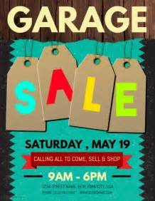 garage sale flyer templates postermywall