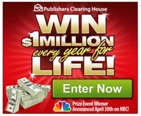 Pch 10 Million - sweepstakes 1 million a year for life