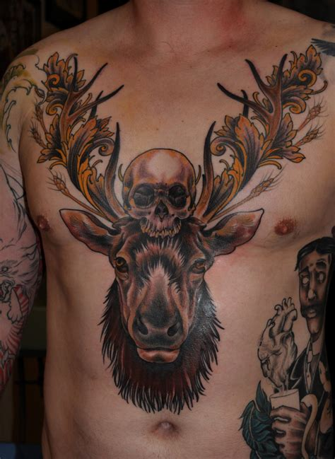 deer skull tattoo designs file image