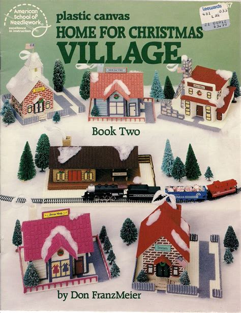 pattern for christmas village 1000 images about plastic canvas on pinterest plastic