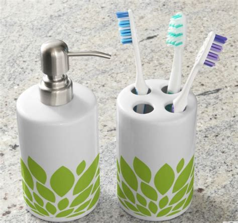 green bathroom sets green bathroom accessories for a bright natural look well done stuff