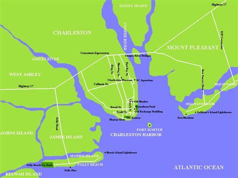 intracoastal waterway carolina map charleston