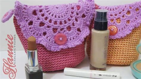 youtube tutorial tas crochet tutorial tas kecil cantik resleting furing