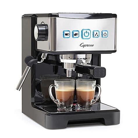 bed bath and beyond espresso capresso 174 ultima pro espresso cappuccino machine bed