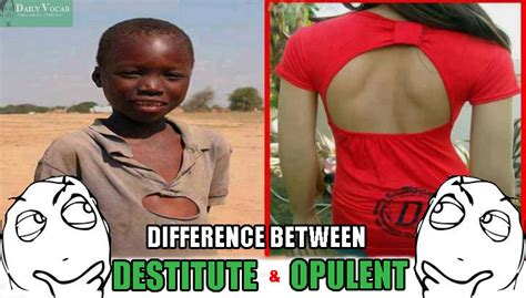 Opulence Meaning destitute and opulent meaning in with picture dictionary