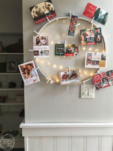 copper christmas card holder diy card holder refresh living