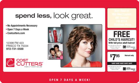 haircut coupons dfw mailer coupons by gerald sudduth at coroflot com