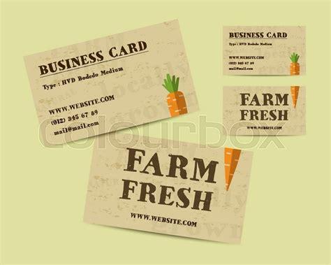 farm business card template psd stylish farm fresh business card template with carrot