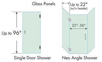 Choose Your Corner Shower Doors Standard Glass Shower Door Size
