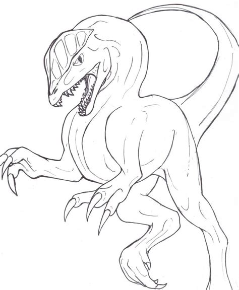 dilophosaurus coloring coloring pages