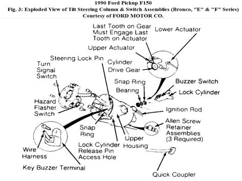 1989 ford f 250 steering column diagram ford auto parts