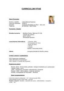 Modelo De Curriculum Vitae Para Quimico Farmaceutico Ullum Curriculum Vitae