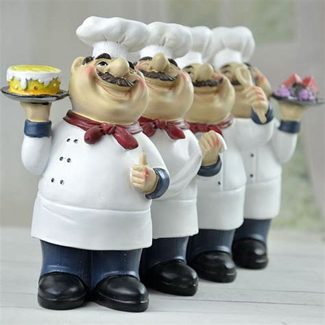 Chef Statue For Kitchen cooking chef with cake figurine chef figure statue kitchen