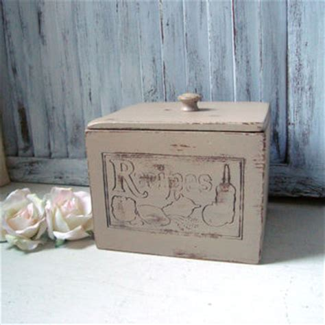 shabby chic recipe box shabby chic vintage recipe box from willowsendcottage on
