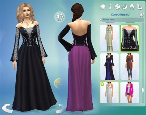 Longdress Cc my sims 4 witch dress with 10 color options for