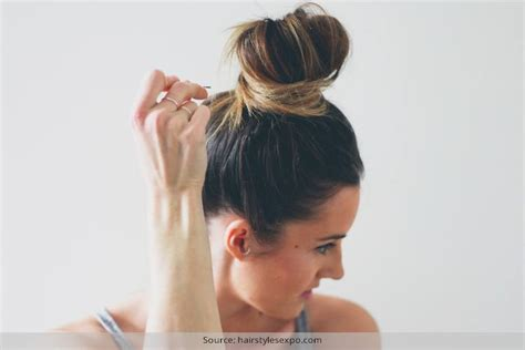 top knots for short hair various styles to the messy top knot for short hair