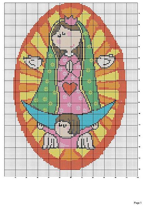imagenes de la virgen maria para bordar mis puntadas preferidas virgencita plis en punto de cruz