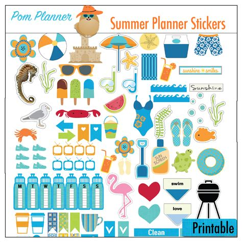 free printable planner art free bible margin strip summer planner stickers