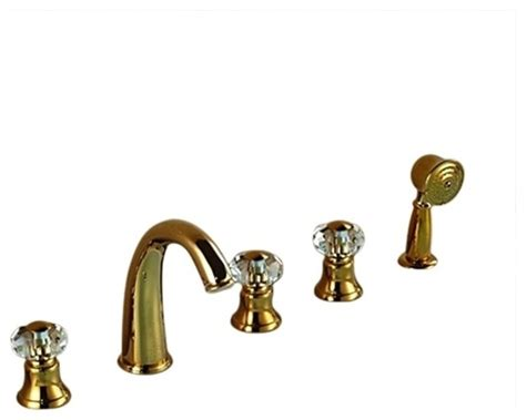5 piece bathtub faucet rubin gold widespread 5 piece bathroom tub faucet three