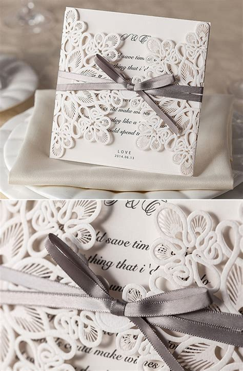 wedding invitation with lace top 10 laser wedding invitations