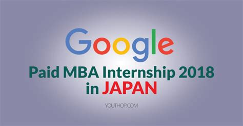 Paid Mba Iternship paid mba internship 2018 at in japan youth